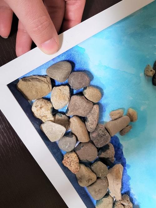 framing your pebble art