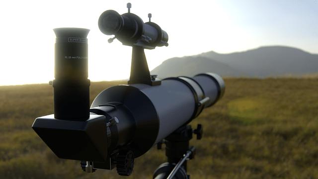 Telescope set up outdoors