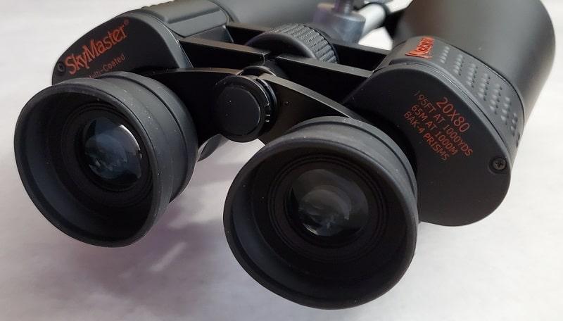 Celestron 20x80 binoculars eyecup closeup