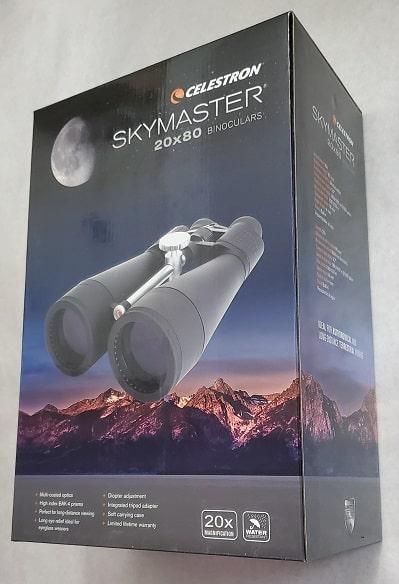 Celestron SkyMaster 20x80 packaging